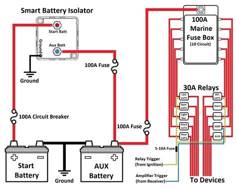 smart battery isolator dual battery wiring diagram