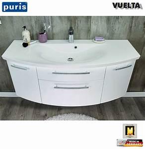 Waschtisch 55 Cm Mit Unterschrank : puris vuelta waschtisch set 121 cm mit mineralmarmor waschtisch und unterschrank mit 2 ausz gen ~ Bigdaddyawards.com Haus und Dekorationen