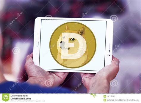 Dogecoin Cryptocurrency Logo Redaktionell Bild - Bild av ...