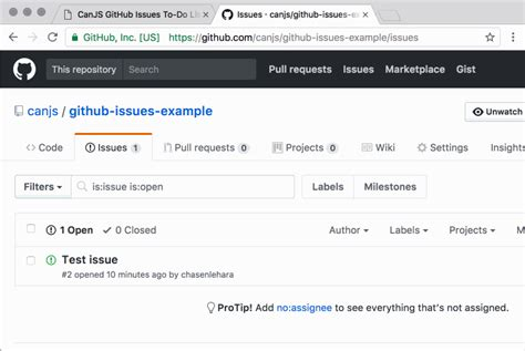 github issue template how to build a real time github issue to do list with canjs sitepoint