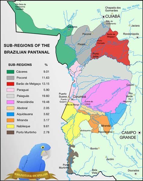 Pantanal Escapes  Pantanal Map