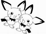 Pichu Coloring Friend Pages Sheets Pokemon Pikachu Template Getcoloringpages sketch template