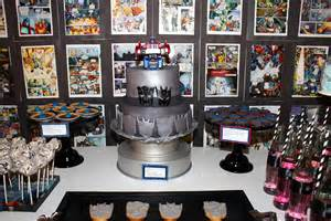 themed table decorations transformers birthday party s w a c