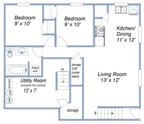 two bedroom cabin floor plans 600 sq ft basement suite