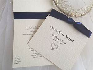 Tying the knot wedding invitations wedding invites for Wedding invitation ribbon knots