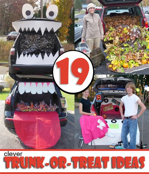 diy treat ideas 19 easy and clever trunk or treat ideas have the best trunk