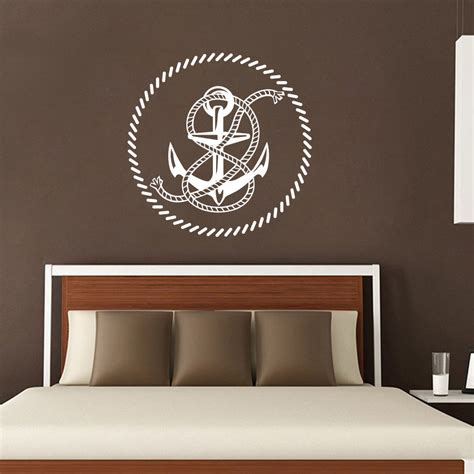 Our garland comes with 5 of our signature fish and. Nautical Wall Decals Anchor Rope Decal Nursery Boy Room Home Decor Vinyl Removable Wall Sticker ...