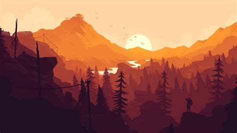 firewatch game p resolution hd  wallpapers