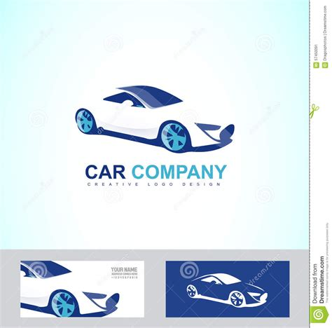 sports fast race car logo stock vector image 57450091