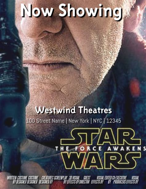 5 out of 5 stars. Star Wars Template | PosterMyWall