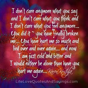 Quotes Dont Care No More. QuotesGram