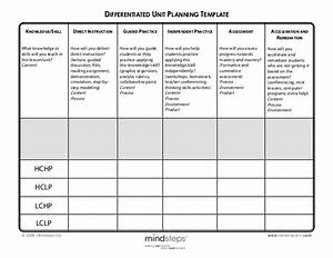 differentiated unit planning template With lesson plan template for differentiated instruction