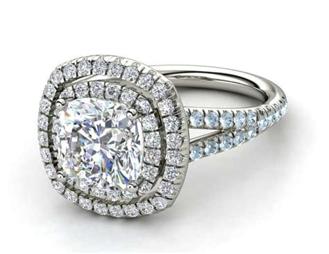 elegant cushion engagement rings sheideas