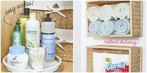 dollar store bathroom organization ideas diy dollar