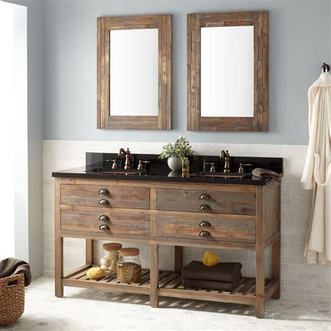 benoist reclaimed wood console double vanity
