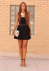 vestidos cortos color negro de moda casual