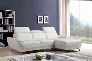 Divani Casa Sterling Modern White Eco