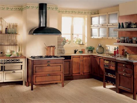 cuisines anciennes cuisine ancienne avec des meubles en bois