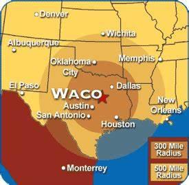 Texas Map Showing Waco