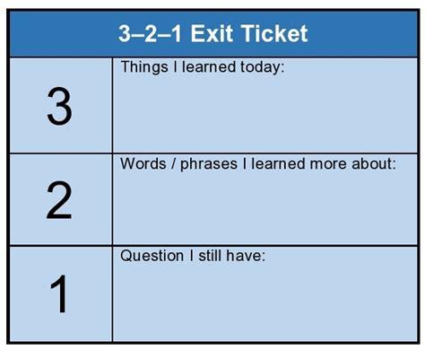 Exit Ticket Template Class Do You Understand Gwangju News