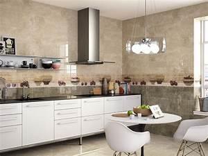 Faience cuisine beige idees decoration interieure farikus for Idee cuisine