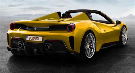 "Ferrari 488 Pista Rendered As An Opentop ""aperta"" Carscoops"