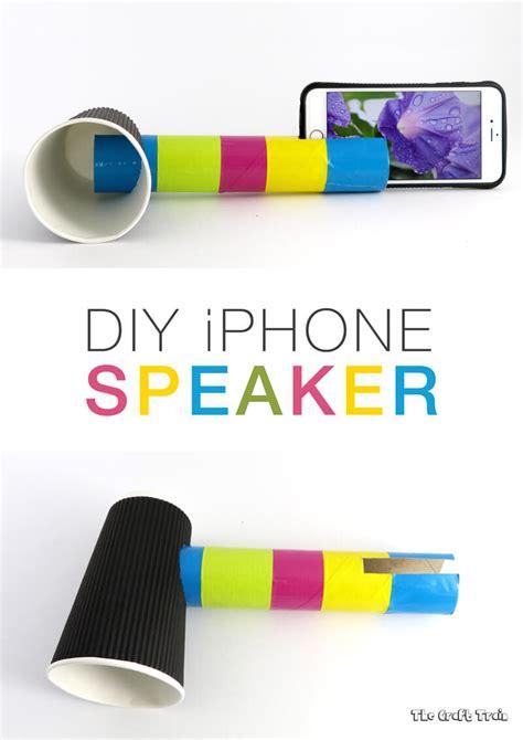 diy iphone speaker  learn  sound  craft train