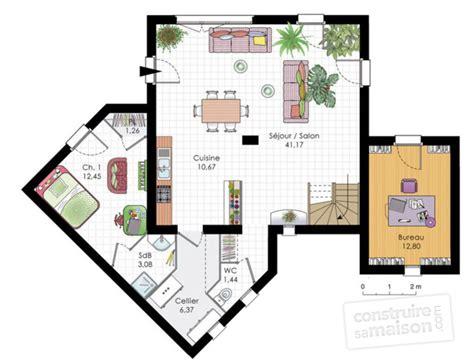 plan de maison en v plain pied 4 chambres maison moderne dé du plan de maison moderne faire