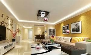 Yellow Wallpaper For Modern Minimalist Living Dining Room ...
