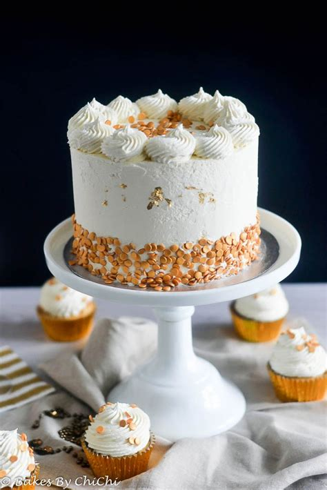 champagne cake  white chocolate buttercream bakes