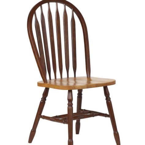 sunset trading 38 arrowback dining chair in nutmeg light