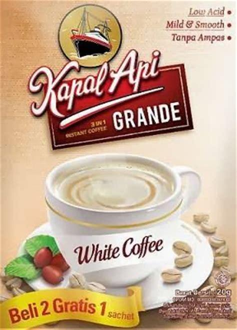 kopi kapal api 20gr komposisi kapal api grande white coffee