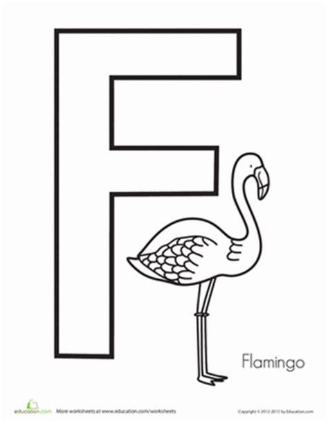 letter f for preschoolers f is for flamingo worksheet education 537