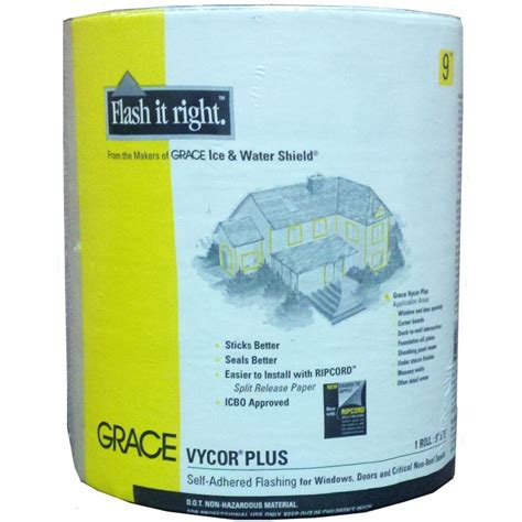 Grace Vycor Deck Protector Self Adhered by Grace Vycor Plus 9 In X 75 Ft Roll Fully Adhered
