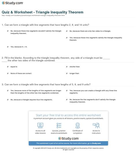 lesson 4 3 triangle inequalities worksheet answers kidz