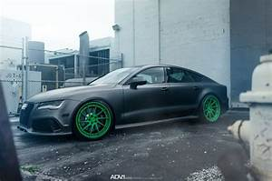 Audi RS7 Drops The Mic On Matte Green Custom Wheels