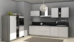 Minimalist kitchen cabinets with grey walls Download 3D