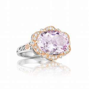 tacori 18k925 quotcolor medleyquot oval rose amethyst diamond With country girl wedding rings