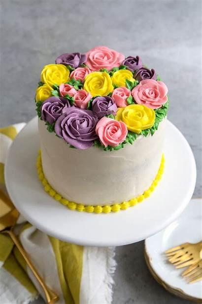 Buttercream Cake Flowers Flower Birthday Icing Roses