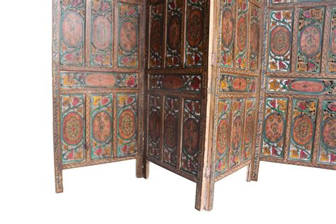 panel hand carved indian screen room divider