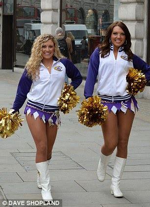 minnesota vikings cheerleaders photo shoot  london