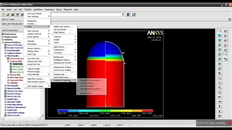 Analysis of Pressure Vessel Ansys 10.0