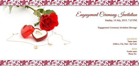 Free Engagement Invitation Card & Online Invitations