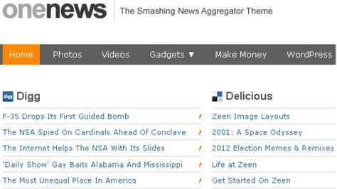 News Aggregator Template by Top 5 News Aggregator Themes Technology