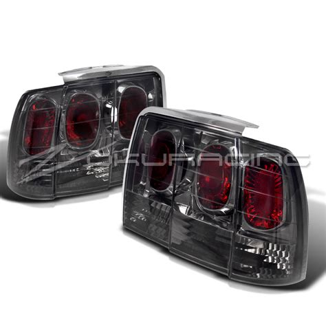 2004 mustang tail lights 1999 2004 ford mustang smoke rear tail lights pair