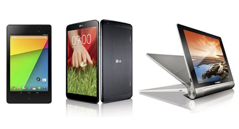 what s the best android tablet nexus 7 vs lg g pad 8 3 vs lenovo tablet 8