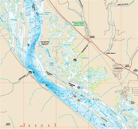 mississippi river pool  fishing map