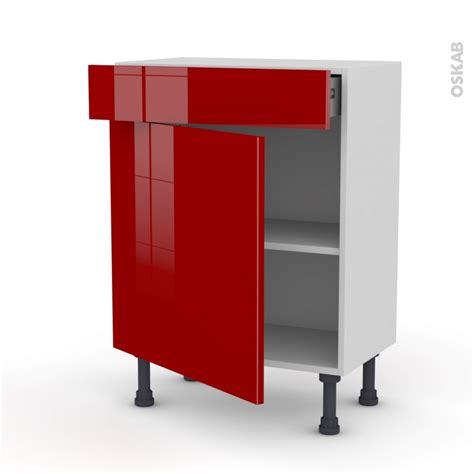 prof de cuisine meuble de cuisine bas stecia 1 porte 1 tiroir l60 x