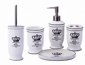 Badezimmer Set Seifenspender : vintage badset badezimmer zubeh r set seifenspender wc b rste krone ebay ~ Whattoseeinmadrid.com Haus und Dekorationen