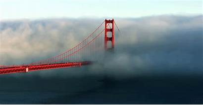 Cloud Touched Anyone Ever Bridge Gate Golden